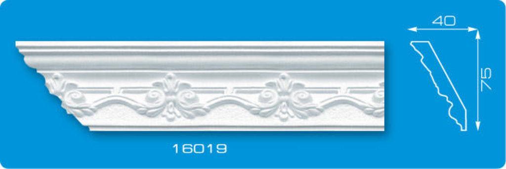 Плинтуса потолочные: Плинтус потолочный ФОРМАТ 16019 инжекционный длина 1,3м, средний в Мир Потолков
