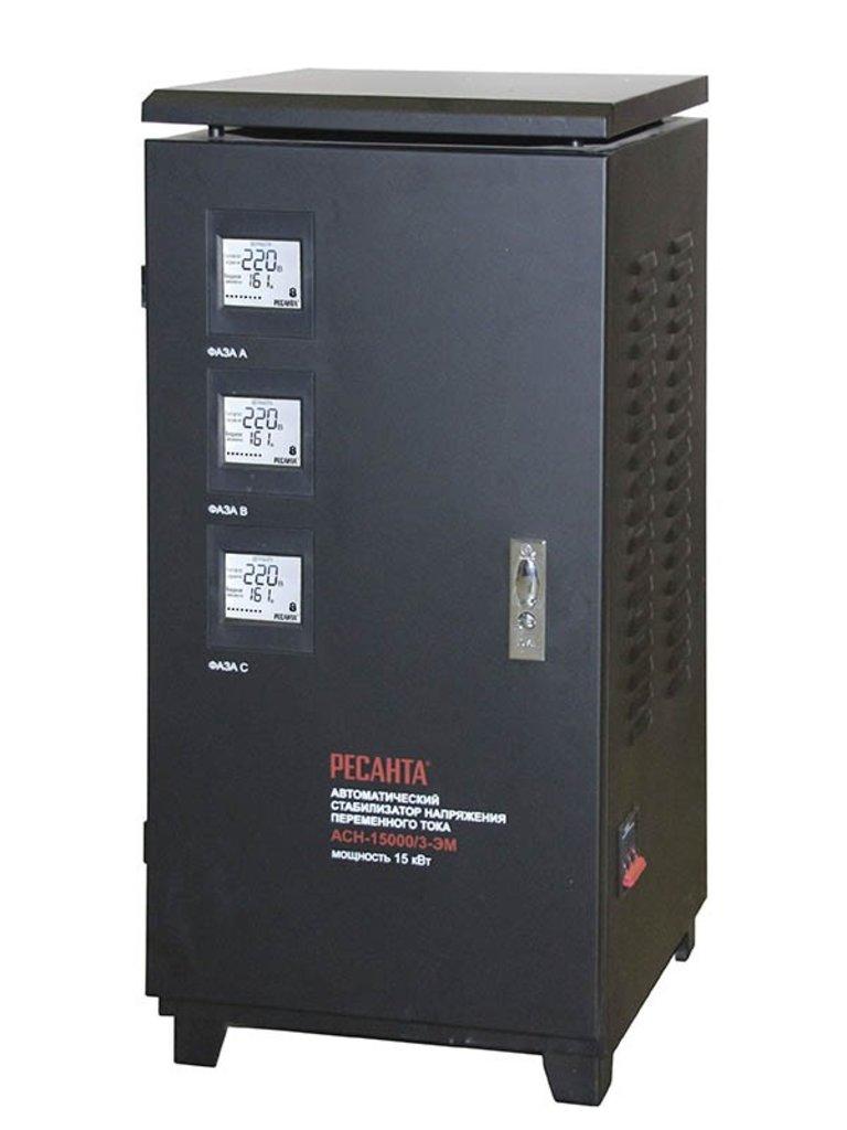 Электромеханического типа: Трехфазный стабилизатор электромеханического типа РЕСАНТА АСН-15000/3-ЭМ в РоторСервис, сервисный центр, ИП Ермолаев Д. И.
