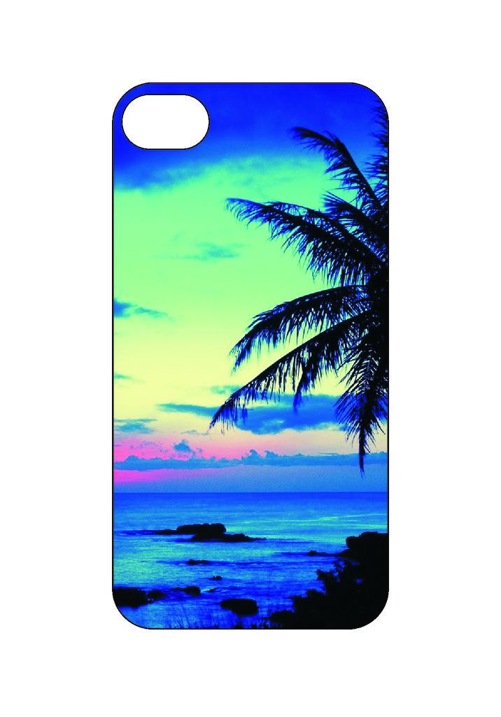Выбери готовый дизайн для своей модели телефона: Пальма в NeoPlastic