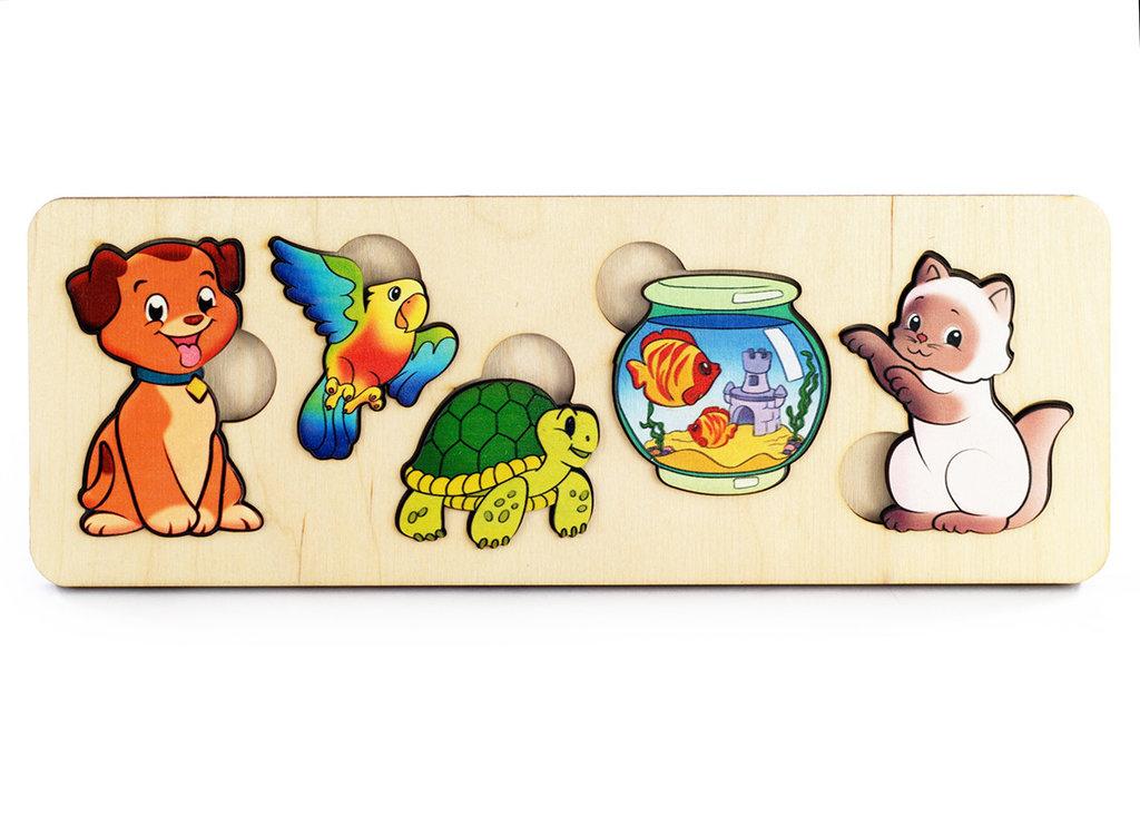 Игрушки для малышей: Пазл-рамка 7996 Домашние животные Бэмби Дерево в Игрушки Сити