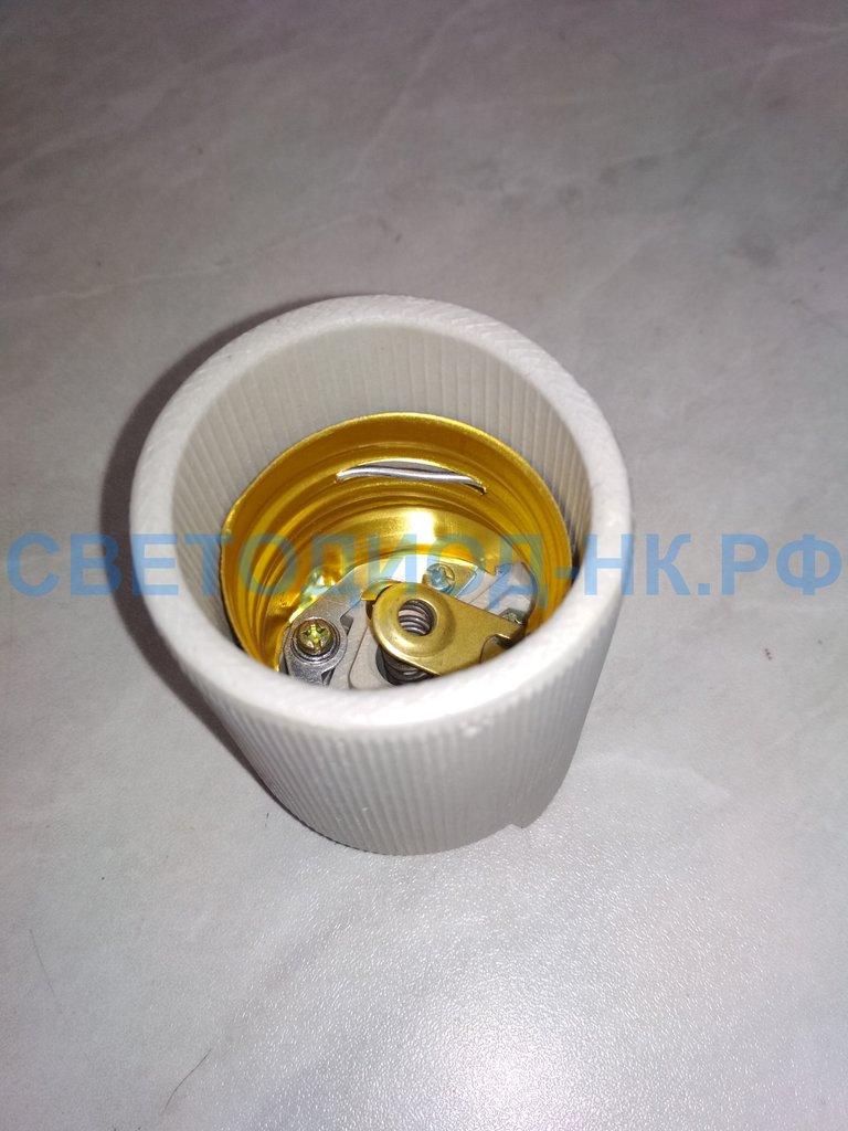 Патроны для ламп: Ecola патрон керамический Е40 белый в СВЕТОВОД
