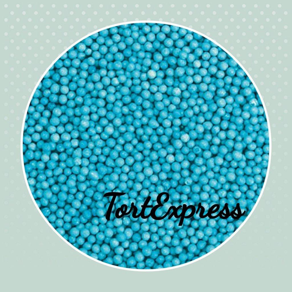 Посыпки декоративные: Шарики синие 2 мм в ТортExpress