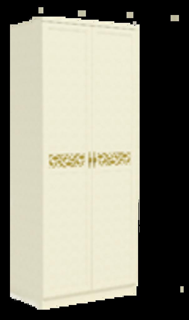 Спальни: Ливадия Л5А Шкаф для одежды узкий 439 мм (выдвижная штанга, полки) в Диван Плюс