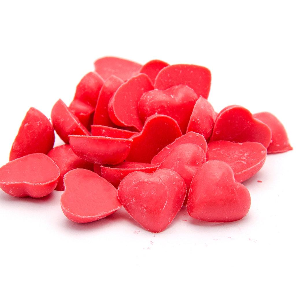 Шоколадный декор: Сердечки красные (глазурь) в ТортExpress