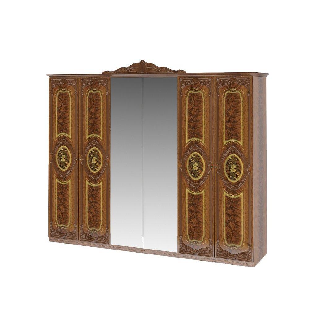 Шкафы для спальни: Шкаф 6-дверный Роза в Стильная мебель