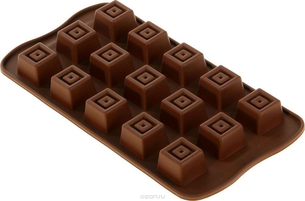 Кондитерский инвентарь: Форма для льда и шоколада Конфетка 15 ячеек в ТортExpress