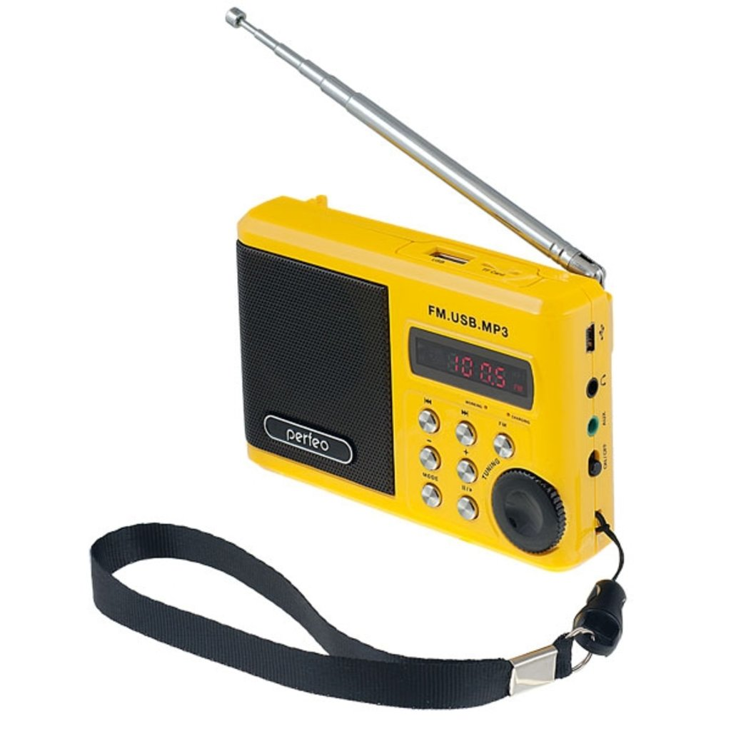 Радиоприёмники: Perfeo мини-аудио Sound Ranger, УКВ+FM, MP3 (USB/TF), USB-audio, BL-5C 1000mAh, желтый (SV922YL) в A-Центр Пульты ДУ