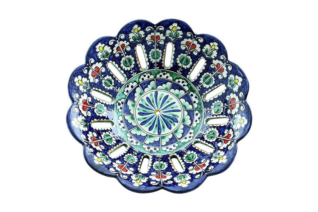 Казаны. Узбекская и турецкая посуда: Фруктовница Риштанская керамика в Сельский магазин
