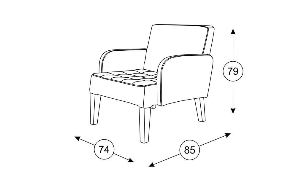 Кресла Квадро: Кресло Квадро ТК 960 в Диван Плюс