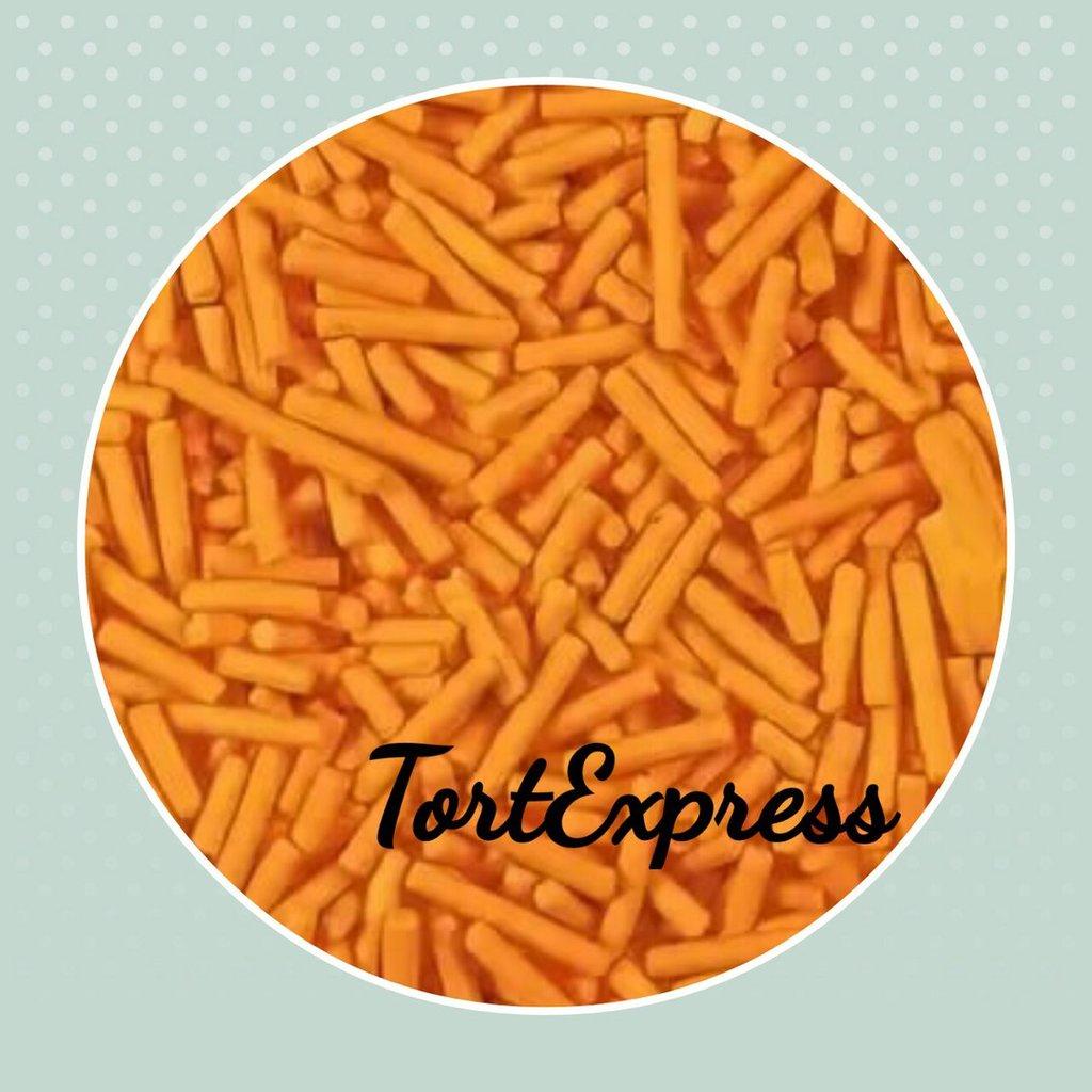 Посыпки декоративные: Посыпка сахарная вермишель оранжевая в ТортExpress