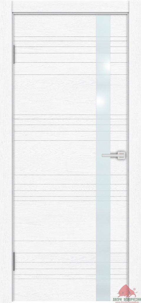 Двери Белоруссии  шпонированые: NEXT (белый ясень) в STEKLOMASTER