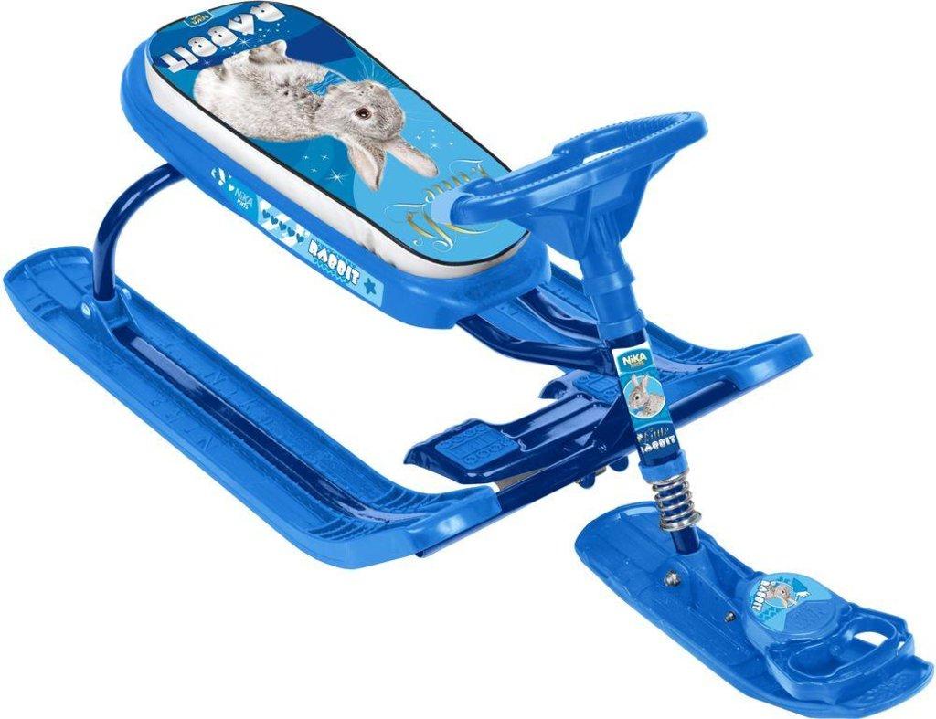 Транспорт для малышей: Снегокат Тимка спорт 2 ТС2 с кроликом (синий каркас) Nika в Игрушки Сити