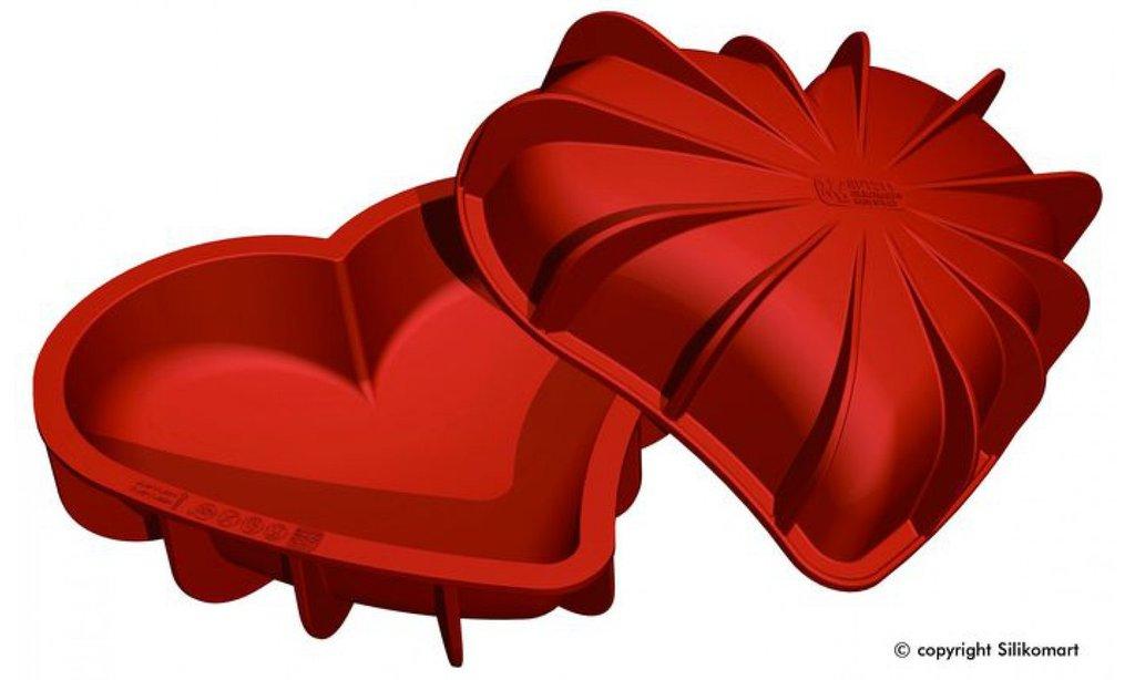 3d формы: Силиконовая форма Сердце  205Х186 ММ, H=54 ММ в ТортExpress
