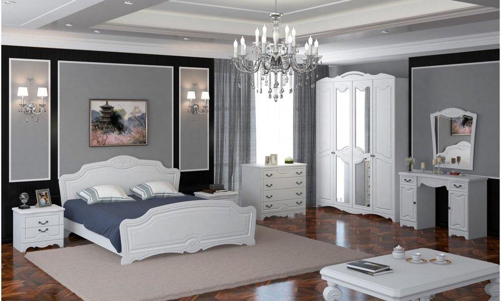 Спальный гарнитур Лотос: Кровать Лотос в Уютный дом