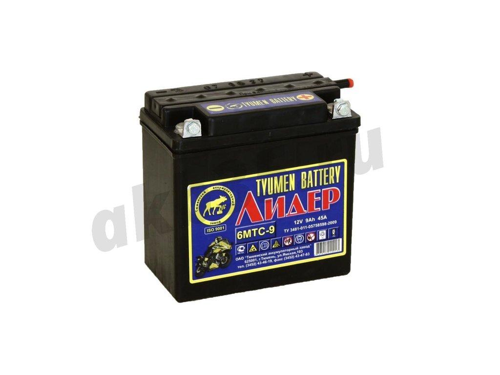 Аккумуляторы: Тюмень Лидер 6МТС-9 А/ч в Планета АКБ