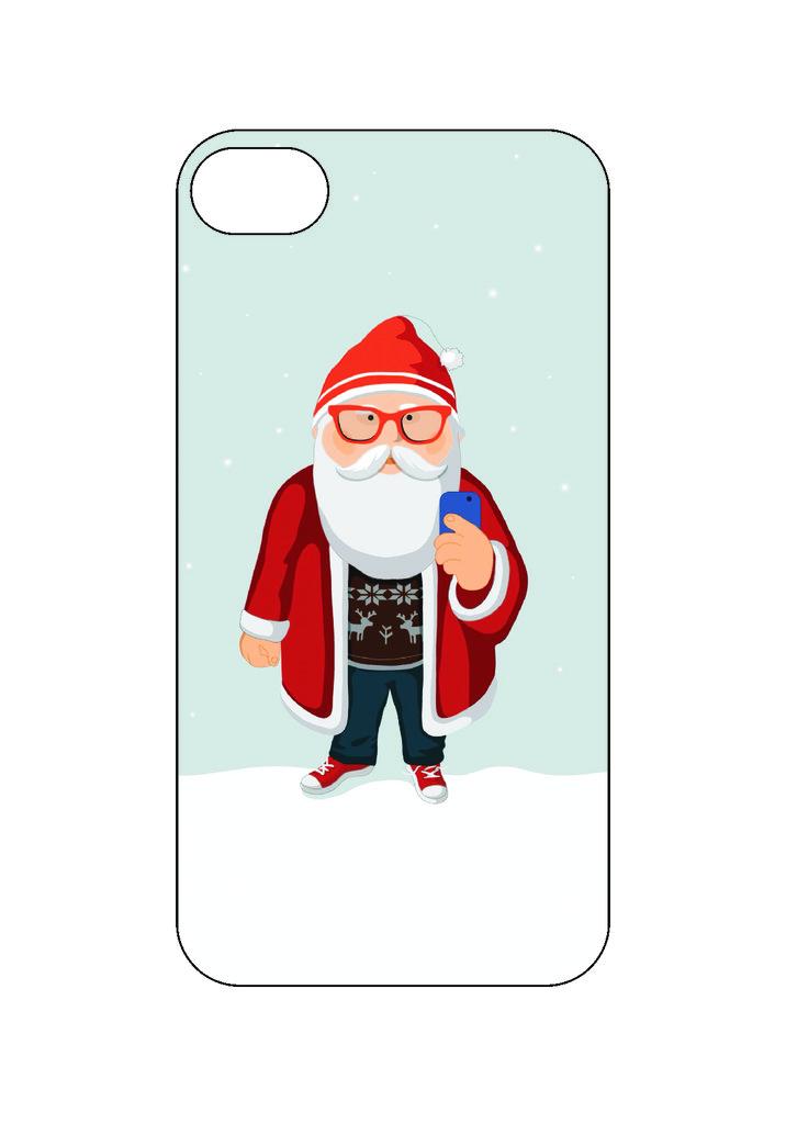 Выбери готовый дизайн для своей модели телефона: Дед Мороз в NeoPlastic