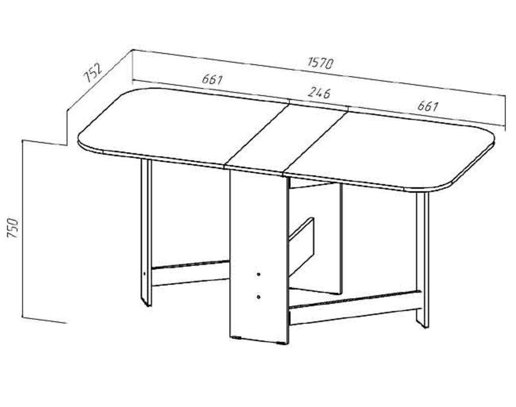 Столы-книжки: Стол книжка (Линаура) в Стильная мебель
