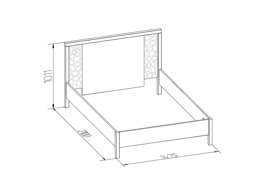 Кровати: Кровать WYSPAA 23 (1400, орт. осн. металл) в Стильная мебель