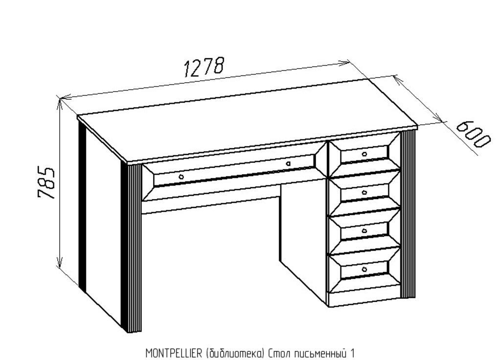 Письменные столы: Стол письменный 1 Montpellier в Стильная мебель