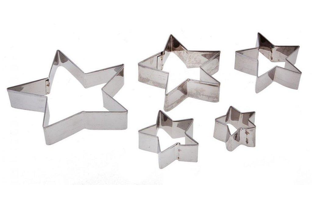 Кондитерский инвентарь: Набор форм для вырезания печенья Звездочка 5шт в ТортExpress