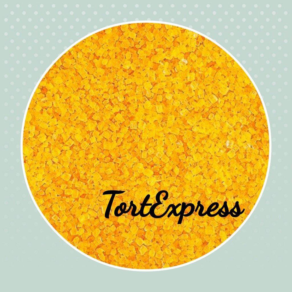 Посыпки декоративные: Декоративный сахар желтый в ТортExpress