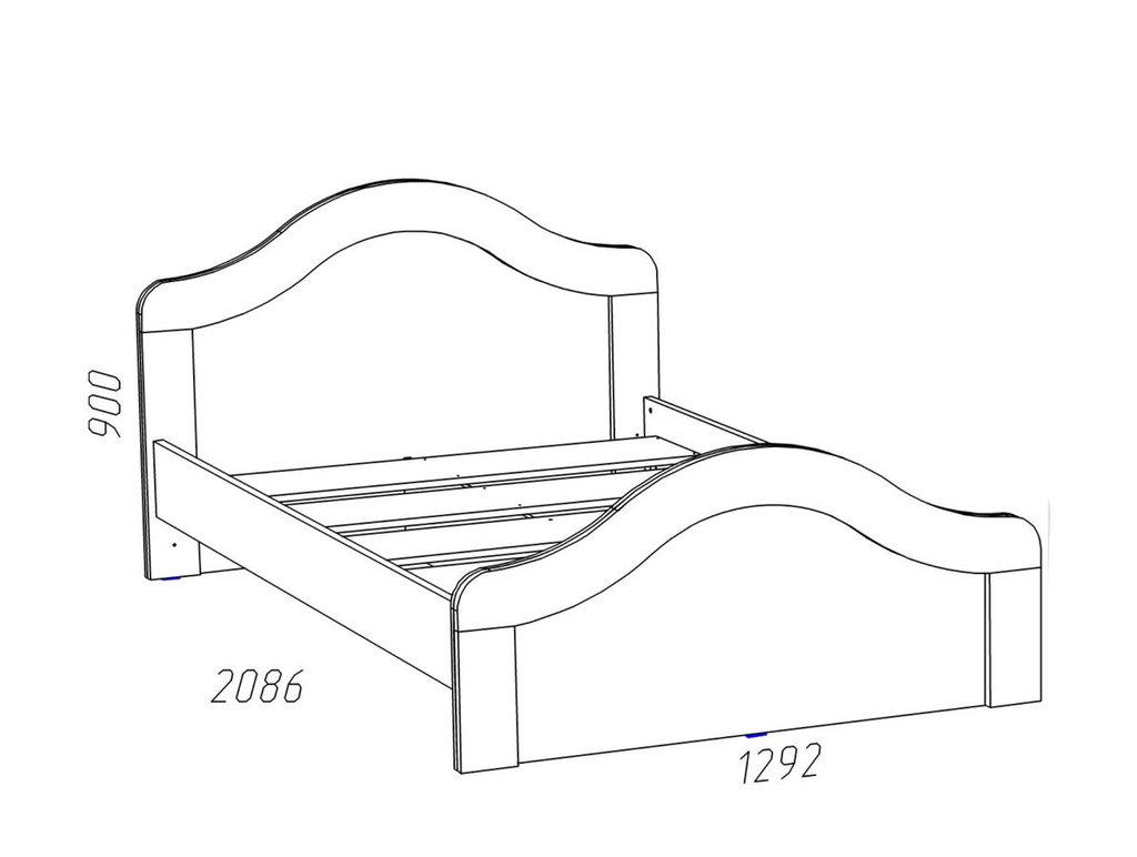Детские и подростковые кровати: Кровать НМ 014.44 М Прованс (1200x2000, усилен. настил) в Стильная мебель