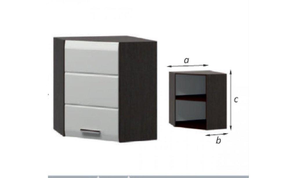 Кухонный гарнитур Сириус: Шкаф навесной угловой Сириус, 1-дверный 600х600 в Уютный дом