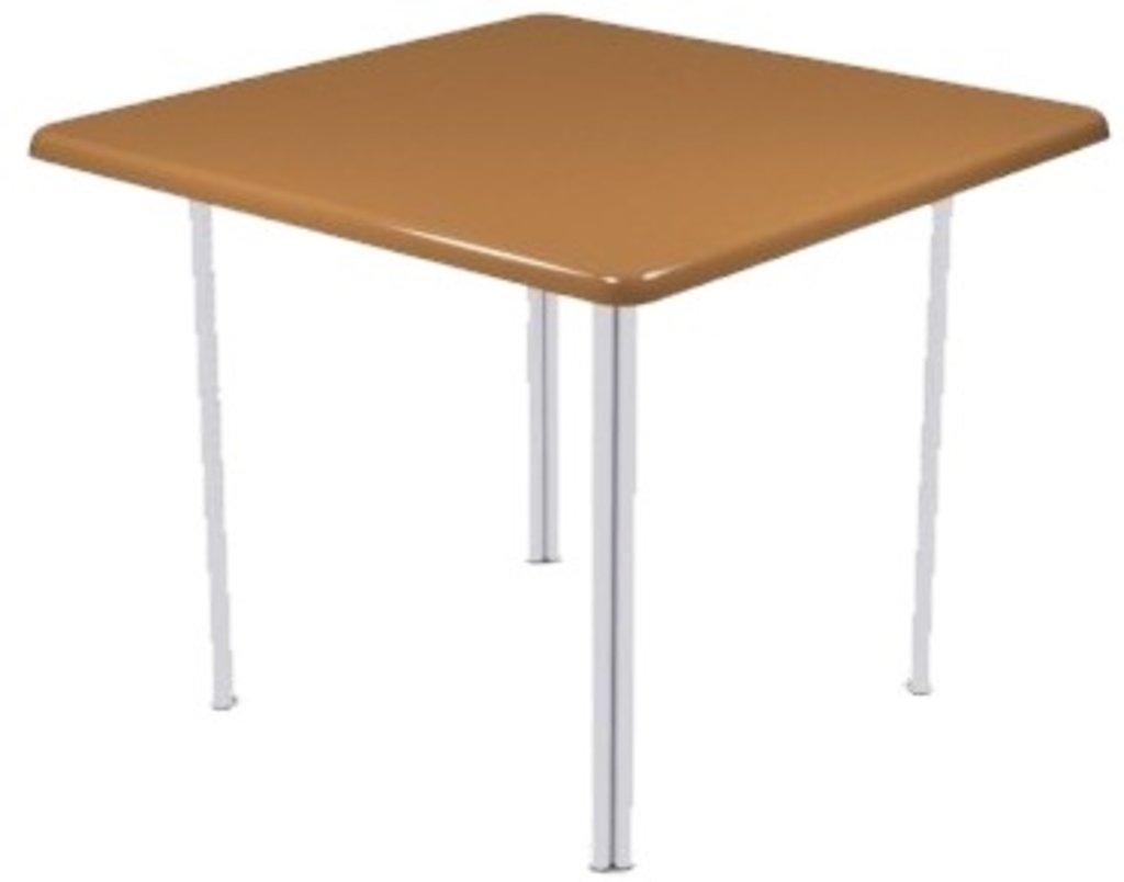 Столы для ресторана, бара, кафе, столовых: Стол квадрат 90х90, подстолья № 4 серая в АРТ-МЕБЕЛЬ НН