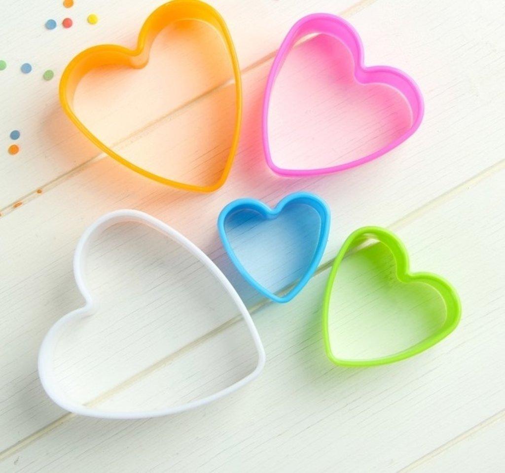 """Вырубки: Набор форм для печенья """"Сердце"""", 5 шт, цвет МИКС в ТортExpress"""