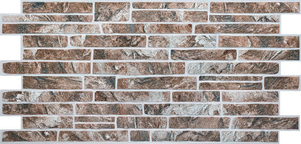 Панели ПВХ: Камень Сланец коричневый в Мир Потолков