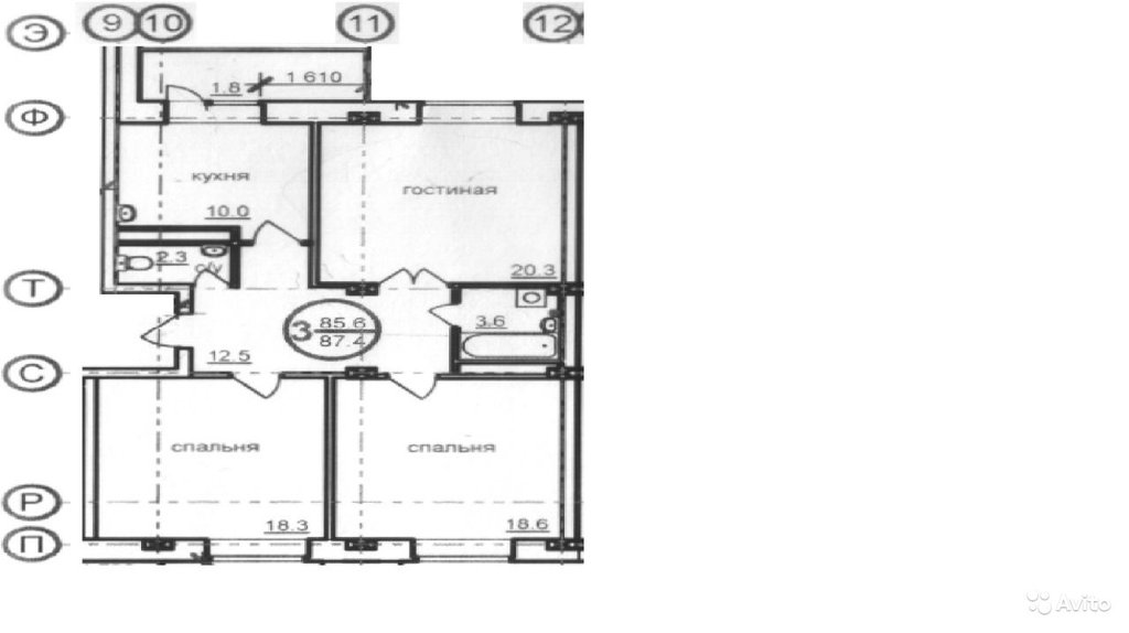 Продажа, аренда жилой недвижимости: 3х комнатная квартира в КонтактИнвест