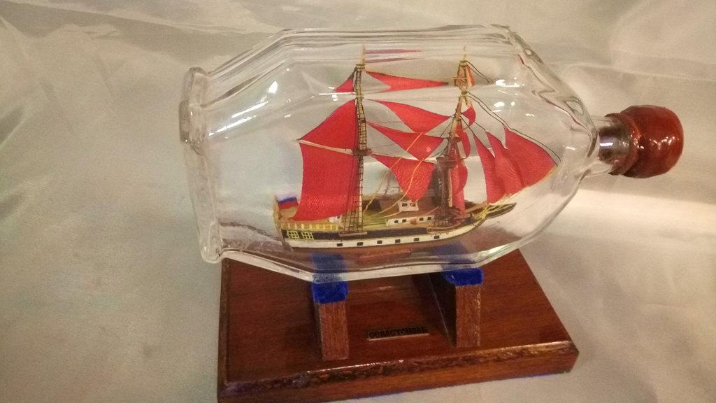 Модели кораблей: Бригантина с алыми парусами №2 в Модели кораблей