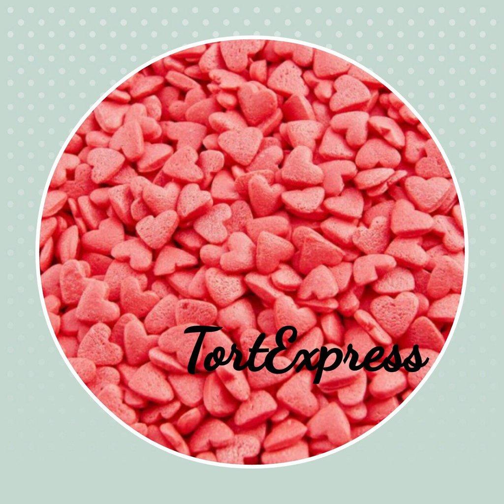 """Украшения, декор: Посыпка сахарная """"Сердечки розовые"""" 75г в ТортExpress"""