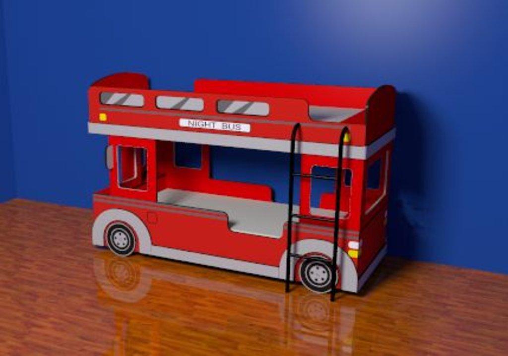 Автобус. Композиция 1. Входит в цену комплекта: Кровать Автобус 1 (900х1900, усилен. настил) в Стильная мебель