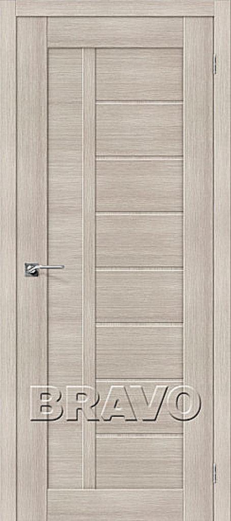Двери экошпон BRAVO: Порта-26 Cappuccino Veralinga в STEKLOMASTER