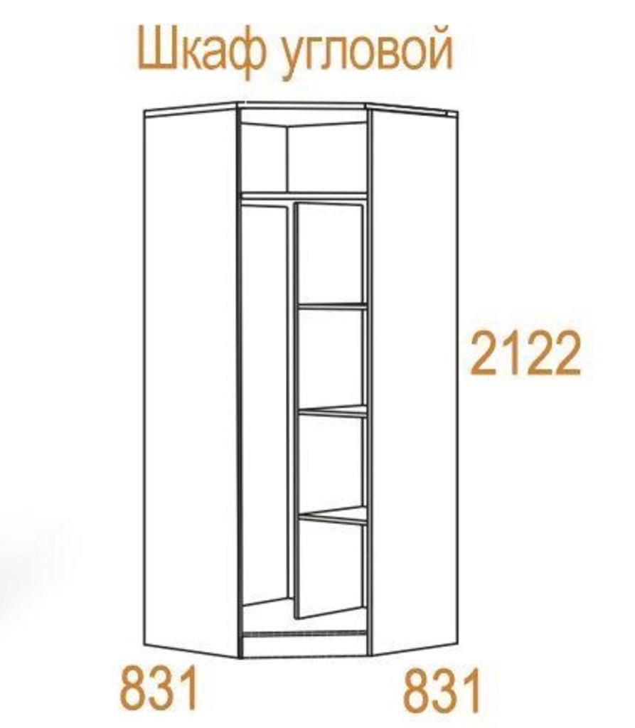 Шкафы для спальни: Шкаф угловой Комфорт-2 в Стильная мебель