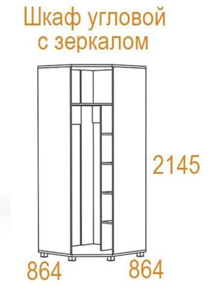 Шкафы для спальни: Шкаф угловой с зеркалом Инфинити в Стильная мебель