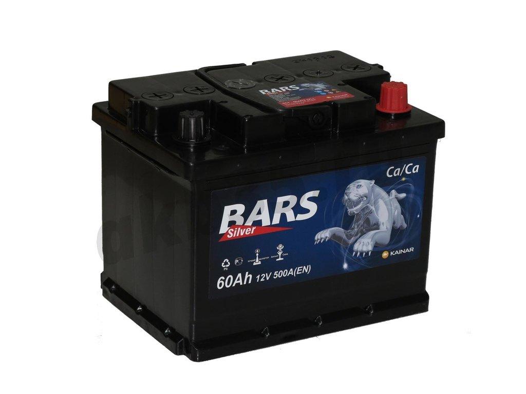 Аккумуляторы: BARS 60 А/ч Обратный Silver в Планета АКБ