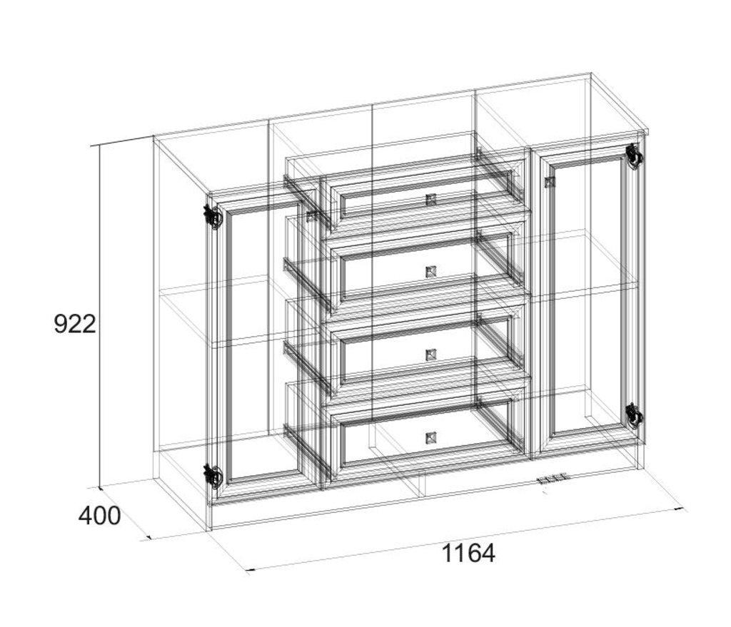 Комоды для дома: Комод PAOLA 91 в Стильная мебель