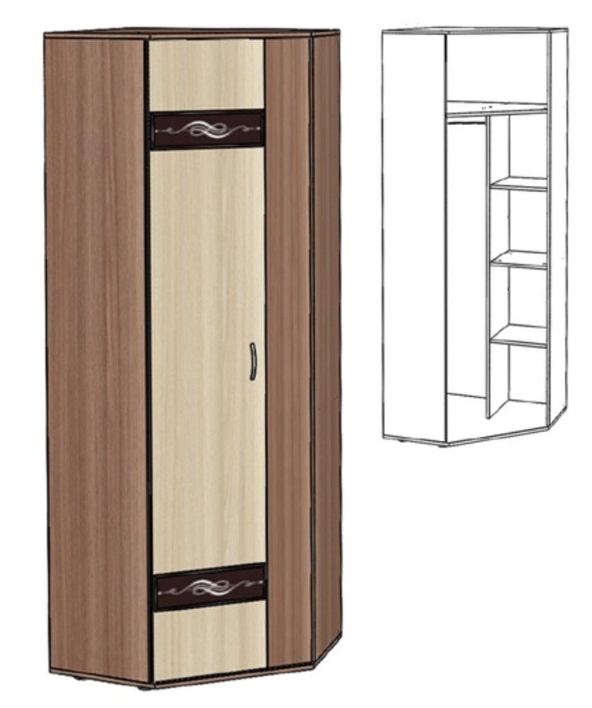 Шкафы для прихожих: Шкаф угловой Инфинити в Стильная мебель