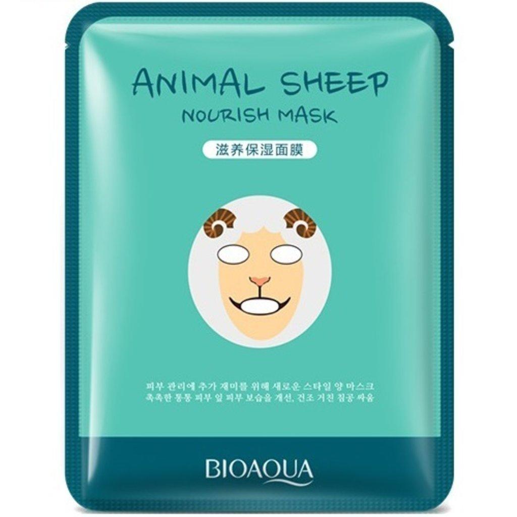 """Маски: Маска тканевая Bio Aqua Mask """"Animal Face - Sheep"""" в Мой флакон"""