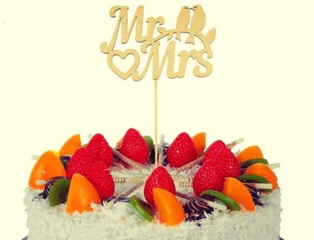Украшения, декор: Топпер Mr&Mrs в ТортExpress