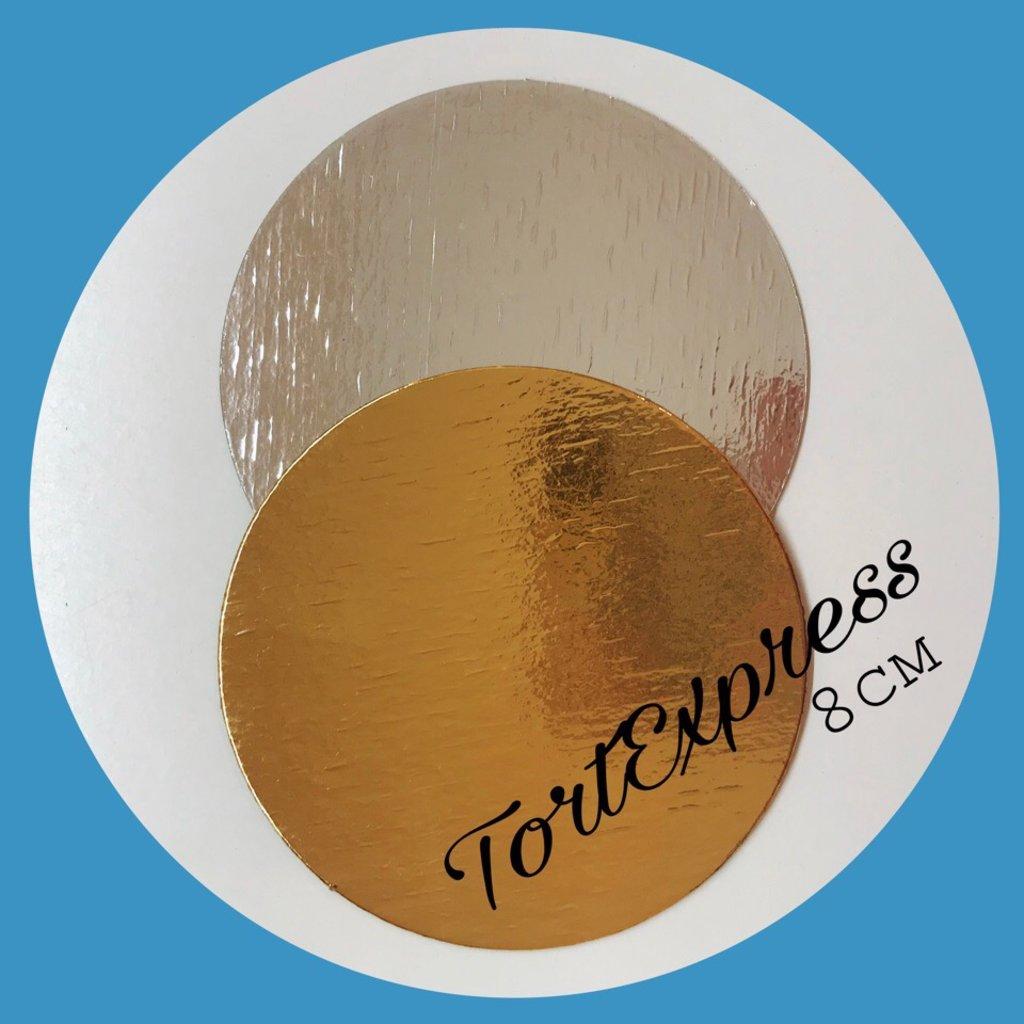 Упаковка: Подложка двусторонняя золото/серебро d8 в ТортExpress
