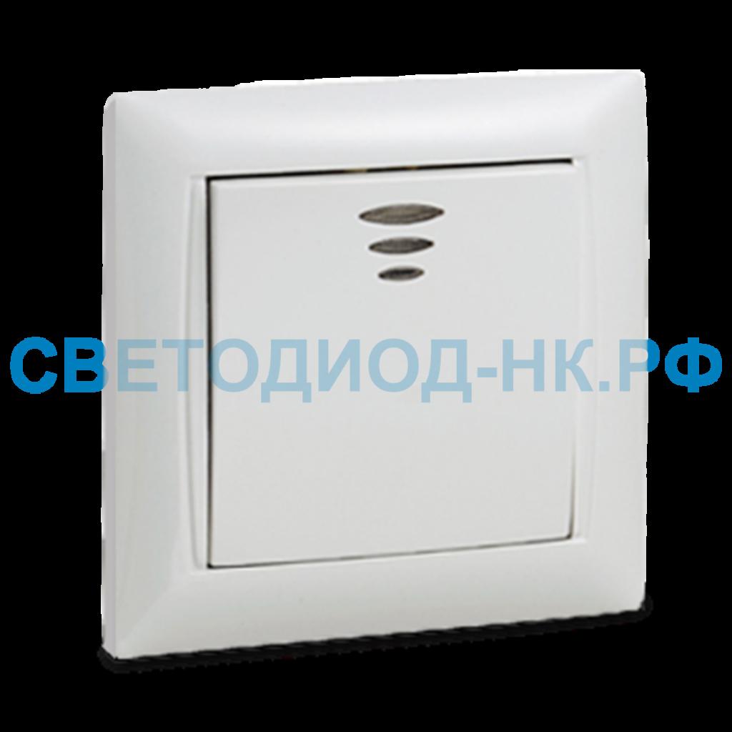 Выключатели, автоматы: Выключатель 1кл с подсветкой VALENZO ASD белый в СВЕТОВОД