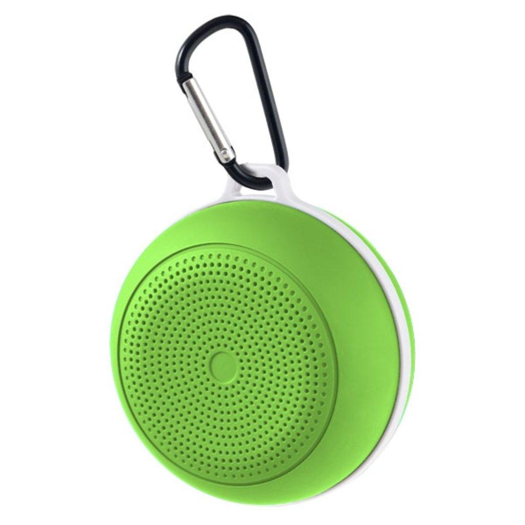 """Блютуз колонки: Bluetooth-колонка """"SPOT"""" FM, MP3 microSD, AUX, мощность 3Вт, 500mAh, зеленая ( Perfeo PF_5216,  PF-BT-ST-GR ) в A-Центр Пульты ДУ"""