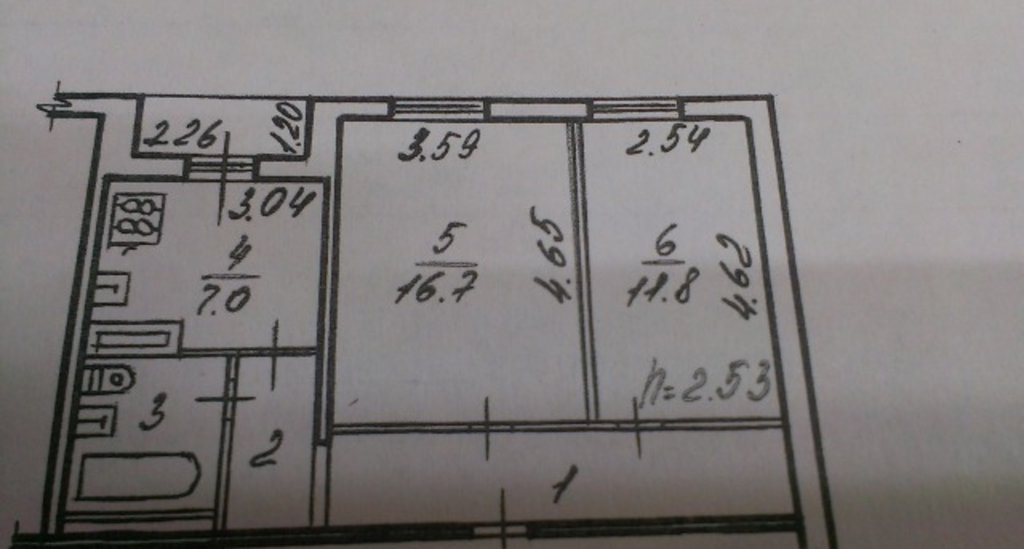 2-комн. квартира: 2-к квартира, 49 м², 4/9 эт. Шекснинский пр. д.37 в А.Н.Квадратный метр