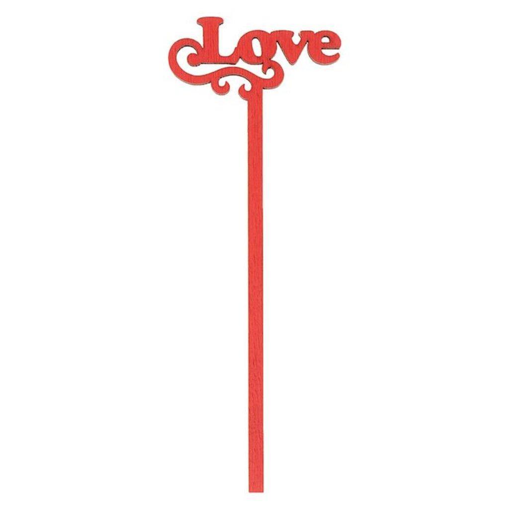 Топперы: Топпер Love, красный в ТортExpress