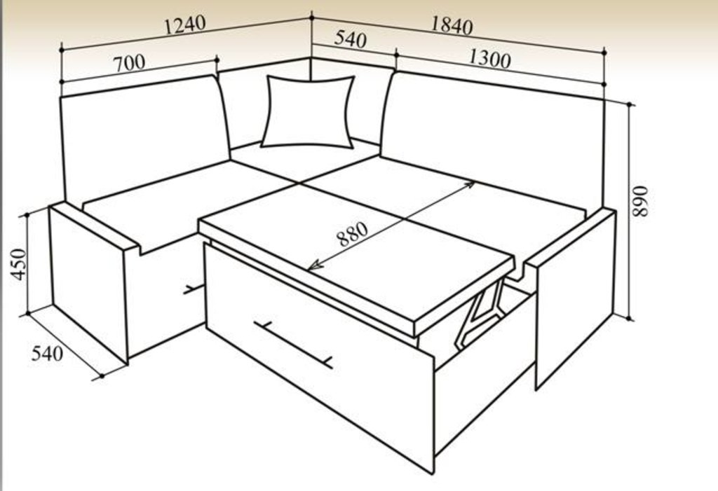 Кухонные уголки: Кухонный уголок КУ-50С 1840 в Уютный дом