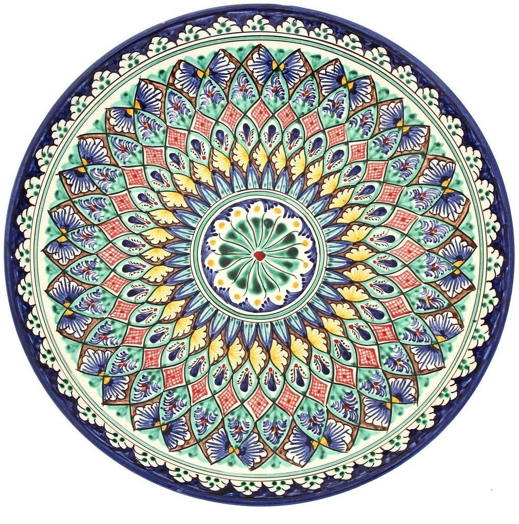 Мангалы. Казаны. Узбекская и турецкая посуда: Ляган Риштанская керамика в Сельский магазин