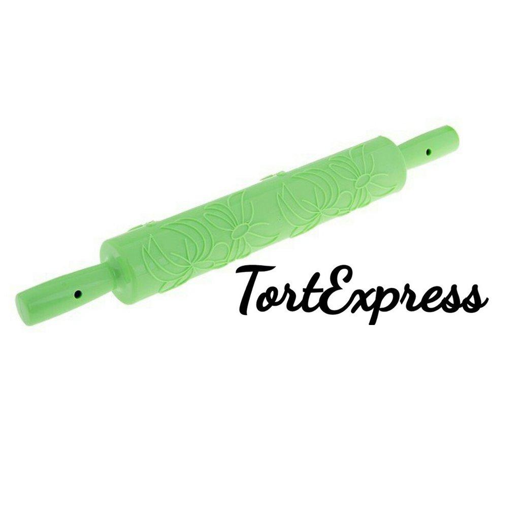 """Инструменты для работы с мастикой: Скалка фактурная """"Узор"""" в ТортExpress"""